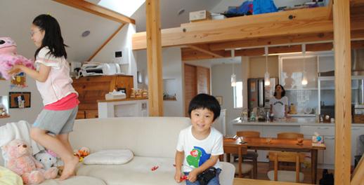 広いリビング|新宿の工務店大栄工業の注文住宅