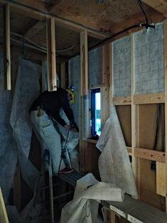 台東区小島の家 セルローズファイバー断熱工事