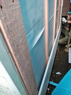 新宿区信濃町にて木造住宅の外壁補修